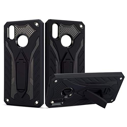 MyCase for Vivo X21 Shockproof Dual Layer 2-in-1 Armor PC+TPU Protective Hard Stand Case (Color : Black)