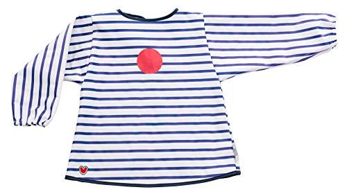 Baby-To-Love Blouse imperméable Tablier bavoir bébé (Bleu)