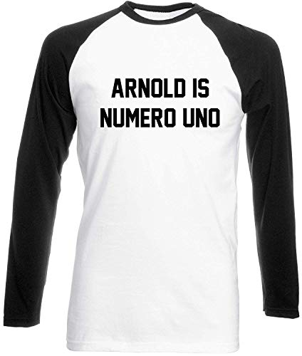 Julie Alcott Arnold is Numero uno Womens Long Sleeve Baseball Two Tone t-Shirt