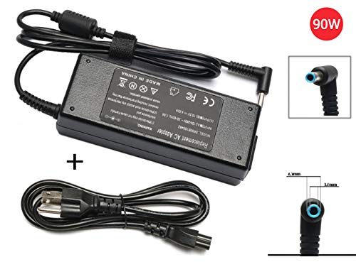 90W Laptop Charger,ANTIEE 19.5V 4.62A UK Adapter Power Supply for HP Envy Touchsmart Sleekbook 15 17 M6 M7,HP Pavilion 11 14 15 17,HP Stream 11 13 14, HP Elitebook Folio 1040 G1,HP Spectre X360 13 15