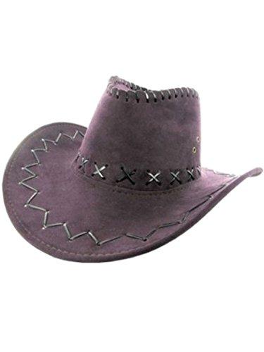 Armardi d Chapeau de cowboy violet.
