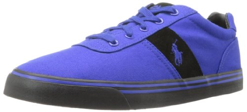 Polo Ralph Lauren Herren Hanford Fashion Sneaker, Blau (Rugby Royal/Rugby Royal/Schwarz), 39 EU