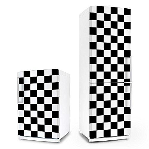 posterdeluxe Kühlschrank- & Geschirrspüler-Folie - Rockabilly – Karo - Aufkleber Dekorfolie Front Spülmaschine 50er