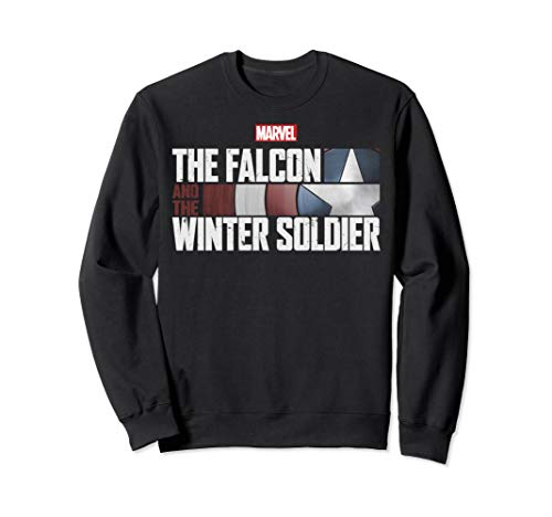 Marvel The Falcon And The Winter Soldier Shield Logo Sweatshirt