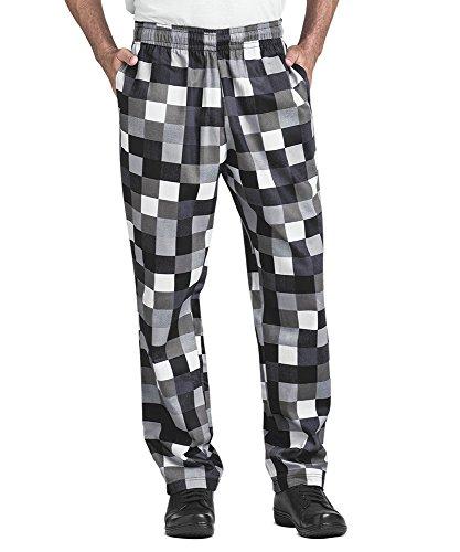 Mens Checkerboard Print Chef Pant(Medium)