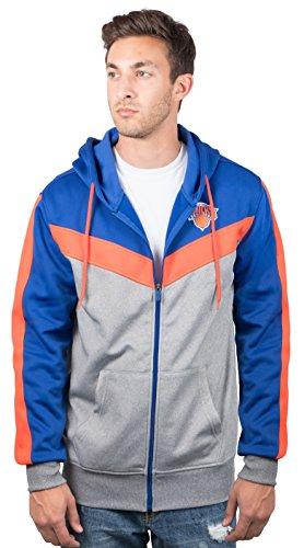Ultra Game NBA New York Knicks Mens Soft Fleece Full Zip Jacket Hoodie, Team Color, Large