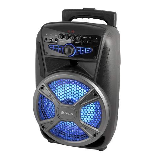 NGS Wild Mambo-Altavoz Bluetooth portátil con batería, 35W, Tipo Trolley, 4 Horas...
