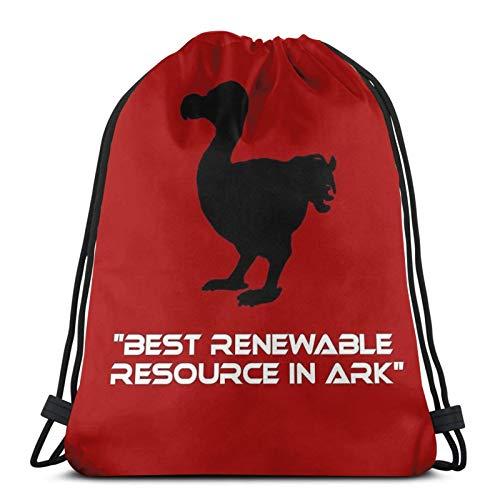 Dodo - Best Renewable Resource In Ark Sport Sackpack Drawstring Backpack Gym Bag Sack