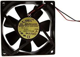 PartsCollection ADDA 80mm x 80 mm x 25 mm 12V DC Brushless High Speed Fan AD0812HS-A70GL