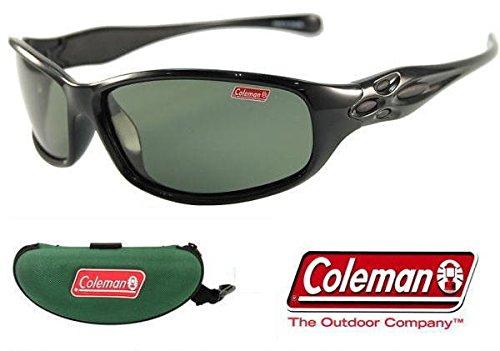 Coleman コールマン 偏光サングラス Co3033-3(コールマン専用ハードケース+ステッカー付) (グリーン)