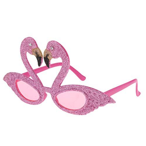 F Fityle Gafas de Sol Hawaianas Brillo Tropical Flamenco Rosado Fiestas de Disfraces Noche de Bachelorette - Rosado, Única