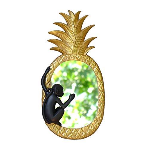 ZLBYB Willkommensspiegel AFFE Klettern Ananas Veranda Zierspiegel, Premium-Material, saisonale Frühling Sommer im Freien lustige dekorative