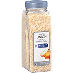 McCormick Culinary Minced Onion presents the same distinctive taste as fresh onions, with 3 tablespoons equal to ½ cup of fresh onion Kosher with no MSG added Sourced especially for chefs, McCormick Culinary Minced Onion is made from quality onions a...