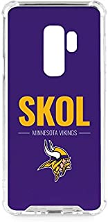 Skinit Clear Phone Case for Galaxy S9 Plus - Officially Licensed NFL Minnesota Vikings Team Motto Design