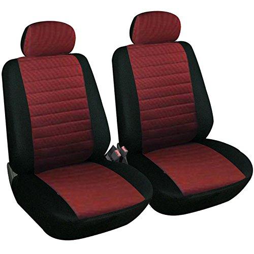 eSituro SCSC0043 2er Einzelsitzbezug universal Sitzbezüge für Auto Schonbezug Schoner aus Polyester rot