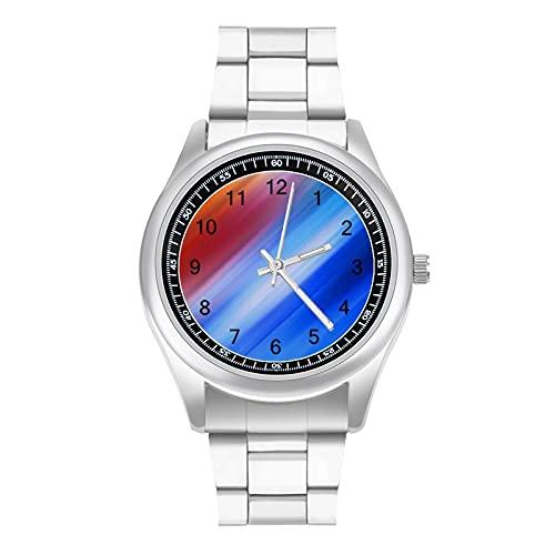 Creativity 0011 - Reloj analógico para hombre con correa de acero inoxidable