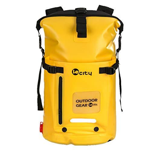 (ビロシー)VILOCYリュック 完全防水 25L 45L 大容量 ロールトップ バックパック リュックサック ドライバッグ アウトドア 登山 ダイビング 黄色45L