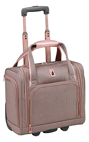 LONDON FOG Newcastle 15-Inch Underseater, Rose Charcoal Herringbone