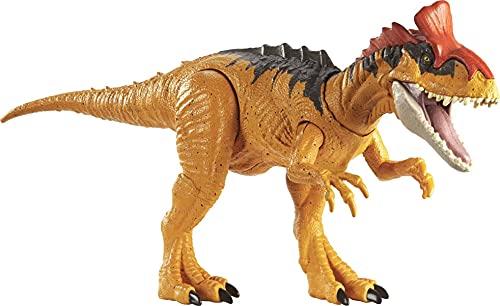 Jurassic World- Colpisci e Ruggisci Dinosauro Attacco Sonoro Criolofosauro, Giocattolo per Bambini 4+ Anni, Multicolore, GJN66
