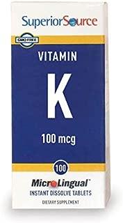 Superior Source Vitamin K1 Multivitamins, 100 mcg, 100 Count