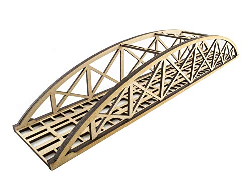 War World Scenics Einspurige Low-Detail Stabbogenbrücke 560mm - Spur 00/H0 MDF Modellbahn Modellbau Landschaft Gelände