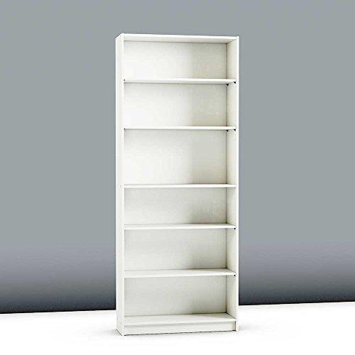 Pharao24 Bücherregal in Weiß 80 cm breit