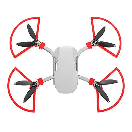 Hensych - Kit di protezione per eliche a sgancio rapido, 4 pezzi, per accessori per droni Mavic Mini Mavic Mini 2, colore: Rosso