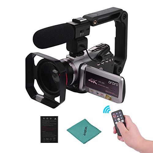 ORDRO HDV-AZ50 Portátil Real 4K UHD 30FPS WiFi Cámara de Video Digital...