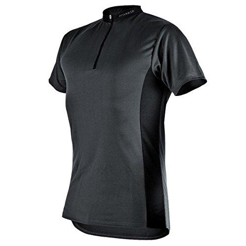 Pfanner Funktionsshirt Zipp-Neck Kurzarm, Größe:L, Farbe:grau