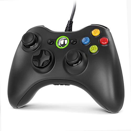 Gezimetie Manette Xbox 360, Manette Xbox PC Joystick et Xbox 360 de Connection USB - Double Vibration - Design Ergonomique, Idéal pour Vos Sessions de Jeux sur Xbox et PC (Windows7/8/8.1/10/XP/Vista)