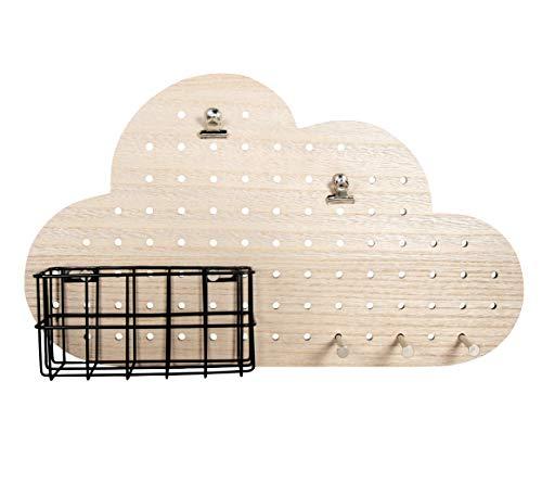Rayher 63061000 Pin & Peg-Set Completo de Nubes (40 x 10 x 23,5 cm, Incluye Colgador, Caja 1 Juego), Naturaleza
