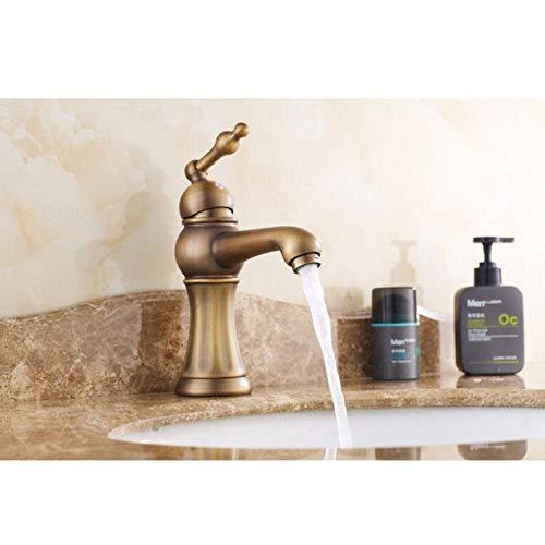 Wasserhahn Meistverkaufte antike Bronze-Finish rotierenden Messing Bad einzigen Handgriff heißen und kalten Spüle Mischer Bad und Küchenarmatur Wasserhahn