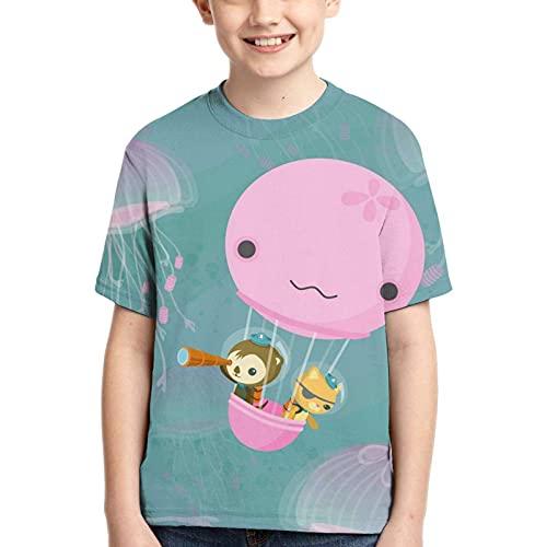 XCNGG Camiseta de Manga Corta para niños de OC-to-Na-UTS, Camiseta de Manga Corta con Cuello Redondo, Adecuada para niños pequeños y niñas.