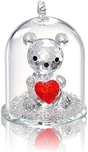 H&D Colección de figuras de oso de cristal en una cúpula de cristal para decoración de boda