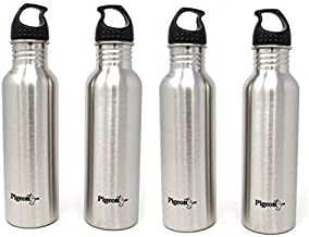 Pigeon Stainless Steel Water Bottle Set, 750ml, Set of 4, Silver