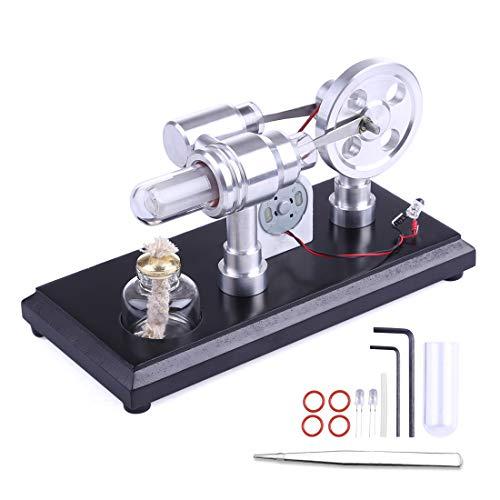 YxFlower Stirlingmotor Mini Stirlingmotor Bausatz Stirling Engine Motor Model für Kind, Teenager