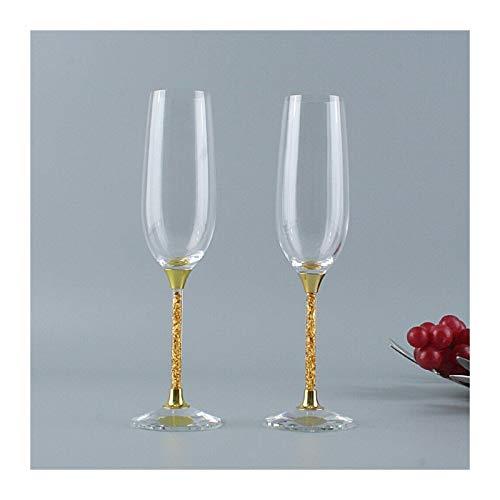 KJGHJ Copas De Vino De Vidrio De Licor Conjunto De Cristal De Cristal CRISTALERIA DE Boda CRISTALERIA DECORTATIVA VERRE Personaliza GRANERALISA para LA Cocina, Flautas De Champán