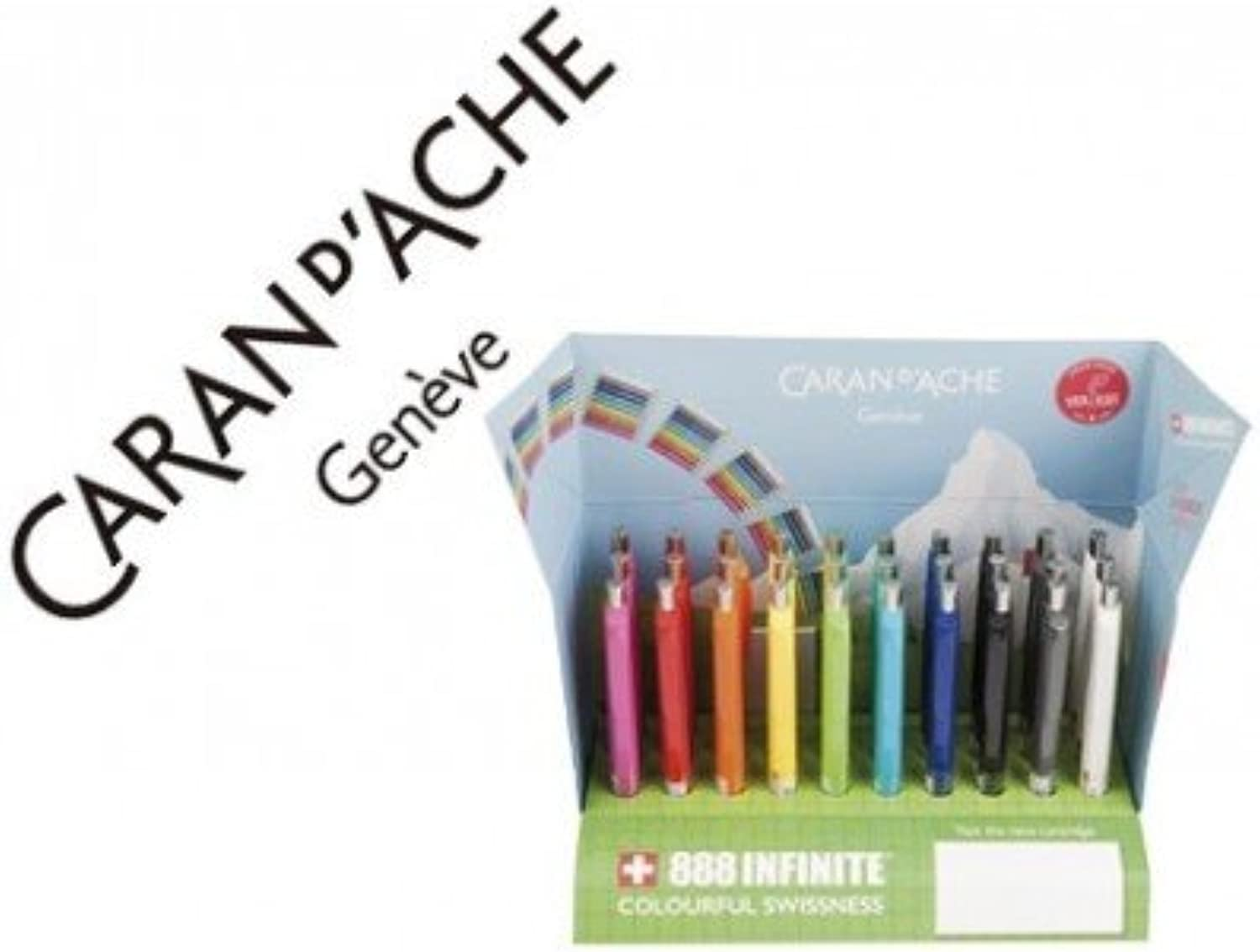 Caran d-Ache 888 Infinite Clip Retractable Ballpoint Pen 30pc (S) – Ballpoint Pens (Clip Retractable Ballpoint Pen, Multicolour, hexagonal, Plastic, Switzerland, 30 PC (S)) B0192CS512 | eine große Vielfalt