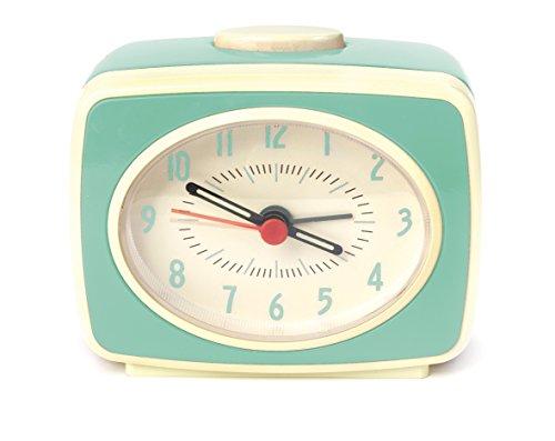 Kikkerland Classic Reloj Despertador, Menta
