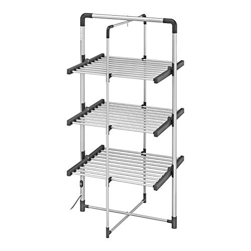 BLACK DECKER BXAR0005GB 3 Tier Heated Clothes Airer Cool Grey