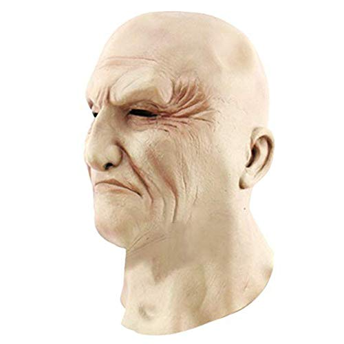 Lijing Halloween-masker, maskers voor feestjes, rekwisieten, volledig vervormd, cosplay, grappige accessoires, schrikbare angst, latex, beangstigend, voor mannen