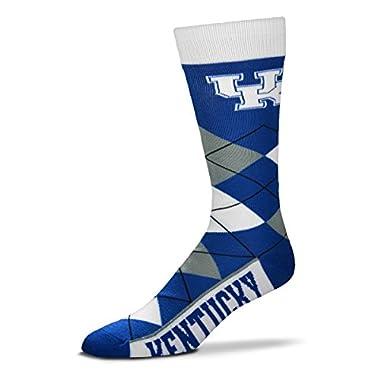 NCAA Kentucky Wildcats Argyle Unisex Crew Cut Socks - One Size Fits Most