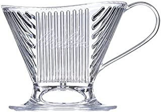 Melitta Signature Series Single-Cup Pour Over Coffee Brewer, Clear