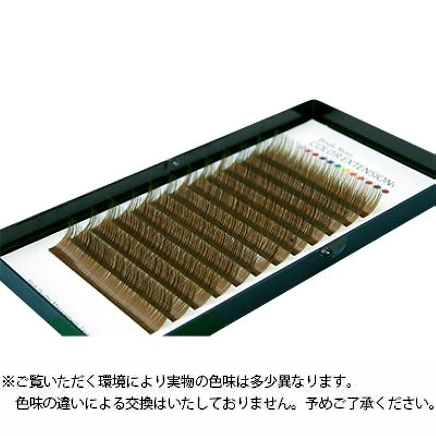 【Foula】カラーボリュームアップラッシュ 12列シート カーキブラウン Cカール 0.06mm×12mm