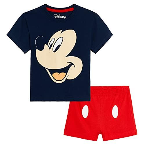 Disney Topolino Pigiama Bambino Corto, Completi Estivi 100% Cotone con Maglietta Mickey Mouse E Pantaloncini, Set Pigiami Bimbi, Idea Regalo Bimbo Maschio 12 Mesi-6 Anni (2-3 Anni, Multicolore)