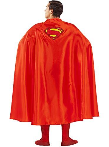 Funidelia | Capa de Superman Oficial para Hombre ▶ Hombre de Acero, Superhéroes, DC Comics, Justice League - Color: Rojo, Accesorio para Disfraz - Licencia: 100% Oficial