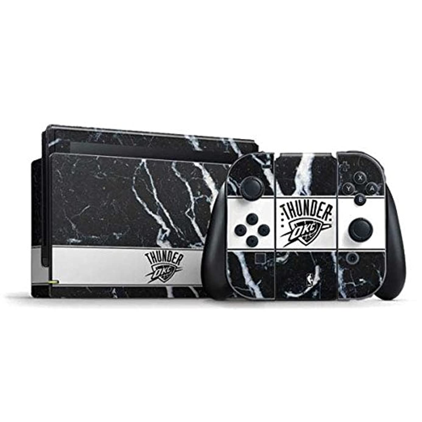 NBA Oklahoma City Thunder Nintendo Switch Bundle Skin - Oklahoma City Thunder Marble Vinyl Decal Skin For Your Switch Bundle