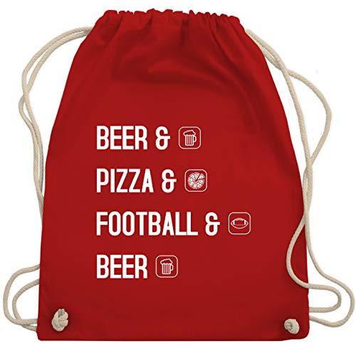 Sonstige Sportarten - Beer Pizza Football Beer - Unisize - Rot - beer football - WM110 - Turnbeutel und Stoffbeutel aus Baumwolle