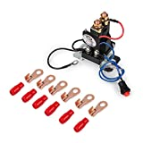 EHDIS 12V Relay 200 AMP Battery Isolator Kit 4 Terminal Dual Battery Auto Increase Battery DC 12V-24V Suit for All Type of Cars, Track, Van, Vehicle