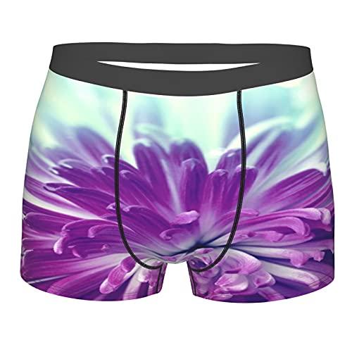 Nongmei Herrenunterwäsche, Bright Violet Flower Close Up,Boxershorts Atmungsaktive Komfort Unterhose Größe M